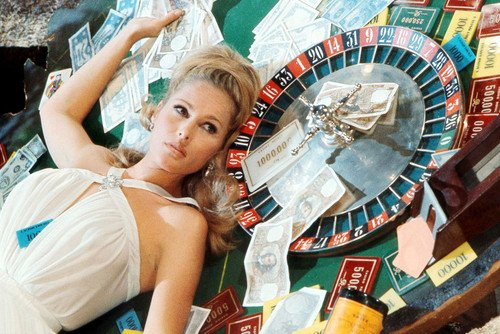 Ursula Andress in Casino Royale 24x36 Poster by roulette wheel from Silverscreen