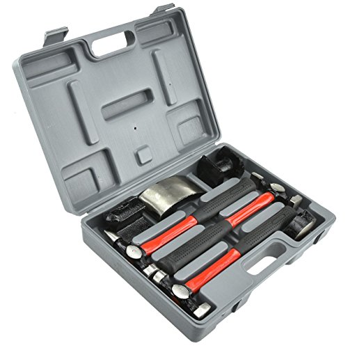 Neiko 20709A Heavy Duty Auto Body Hammer and Dolly Set, 7 Piece   Repair Kit for Dents by Neiko (Image #1)