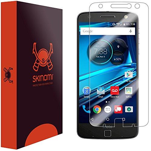 Moto Z Droid Screen Protector (Verizon Droid Edition), Skinomi TechSkin Full Coverage Screen Protector for Moto Z Droid Clear HD Anti-Bubble Film
