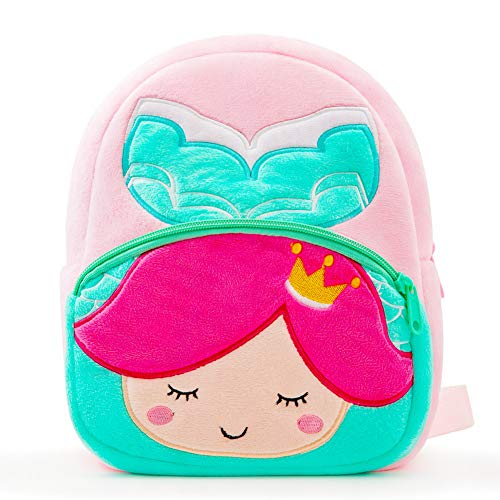 Nice Choice Cute Toddler Backpack Toddler Bag Plush Animal Cartoon Mini Travel Bag for Baby Girl Boy 1-6 Years (Mermaid)]()