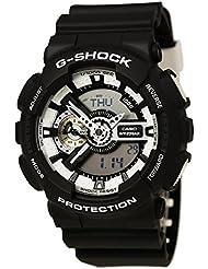 Casio G-Shock Black Dial Resin Quartz Mens Watch GA110BW-1A