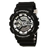 Casio G-Shock Black Dial Resin Quartz Men's Watch GA110BW-1A
