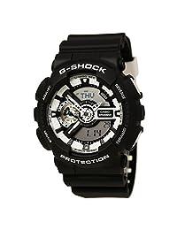 Casio Mens G SHOCK Analog-Digital Sport Quartz Watch (Imported) GA-110BW-1A