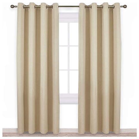 Amazoncom Nicetown Bedroom Room Darkening Curtains Triple Weave