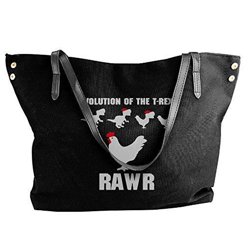 Chicken Black The Hobo Canvas Shoulder T Bag Of Handbag Large Women's To Tote Rex Evolution RxZ6a0Pxqw