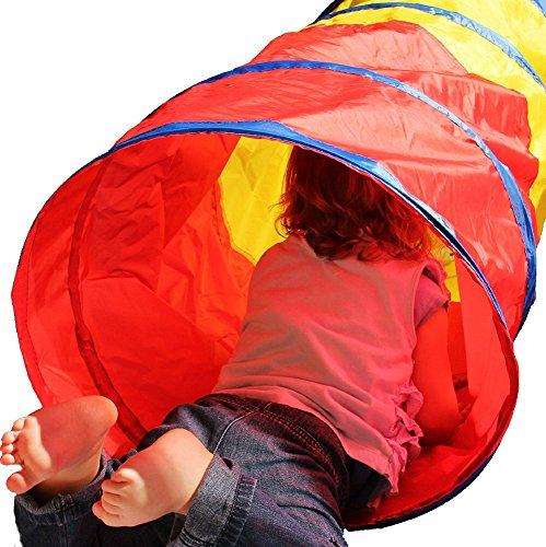 6-feet Play Tunnel Toy Tent Child Kids Pop up Discovery Tube Playtent