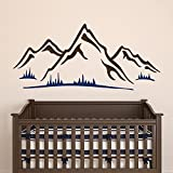 nursery decorating ideas Mountains Wall Design Art Mural Decals Living Room Nursery Kids Bedroom Removable Boys Girls Vinyl Stickers Home Decorating Ideas AR366