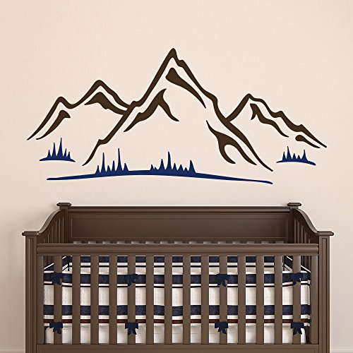 Mountains Wall Design Art Mural Decals Living Room Nursery Kids Bedroom Removable Boys Girls Vinyl Stickers Home Decorating Ideas AR366