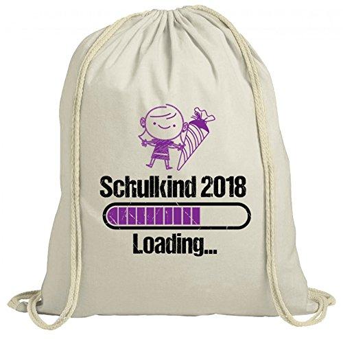 ShirtStreet Einschulungsgeschenk Erstklässler Schulkind natur Turnbeutel Rucksack Gymsac Mädchen - Schulkind 2018 Loading. Natur