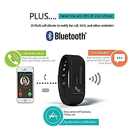 Colorful Panda i5 Plus Bluetooth Smart Bracelet Watch Wristband Sports Fitness Tracker Pedometer Step Counter Tracking Calorie Health Sleep Monitor ...