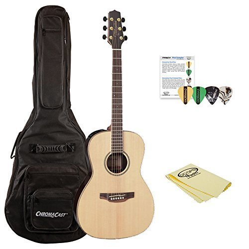 Takamine GY93E-KIT-1 New Yorker Acoustic-Electric Guitar with ChromaCast Gig Bag & Pick Sampler