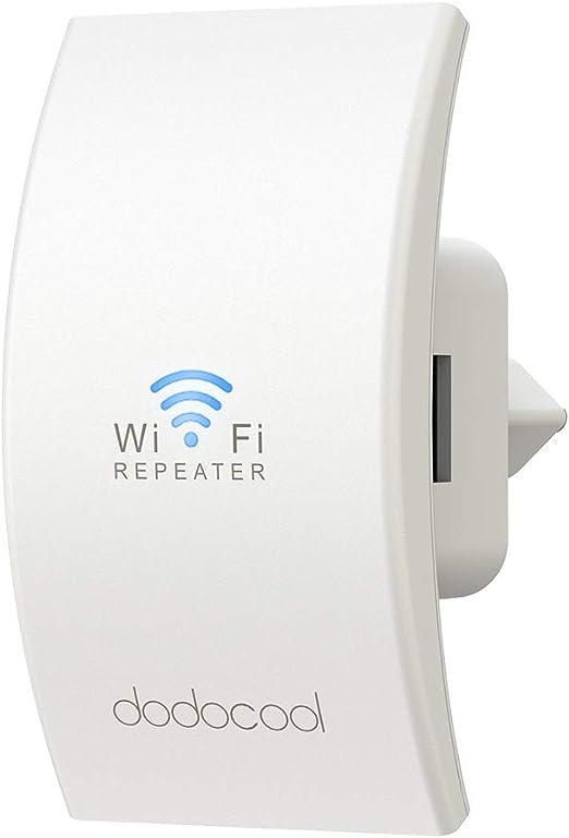 dodocool WiFi Repetidor, Enrutador Inalámbrico Extensor de Red WiFi Ap Amplificador Wireless Repeater Booster Wireless - N300 2.4GHz 300Mbps ...