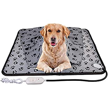 wangstar X-Large Pets Heating Pad 28x23.6'' & Pet Heated Blanket 39.37''x27.55'', Electric Warm Pet Heat Mat for Dogs Cats Chew Resistant Waterproof