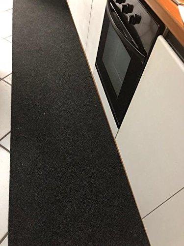 M.Service Srl Tappeto/Passatoia Multifunzione in Moquette Antracite - Sotto lavello - Adatto per cucina e bagno - Antiscivolo - Elevata resistenza - Mis. h 67 x 300 cm