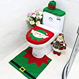 Happy Santa bathroom set brings the happiness and joy of Christmas to your bathrooms. Its a great festive set to Decorate your toilet. Quantity: 1 Set Note: 1.Please allow 1-3cm error due to manual measurement. pls make sure you do not mind b...