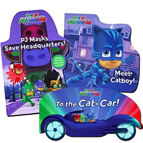 PJ Masks Board Books Super Set -- 3 Deluxe PJ Masks Books for Toddlers (PJ Masks Party Supplies) by PJMASKS