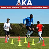 AKA Sports Gear Soccer Agility Sets with 8 Cones