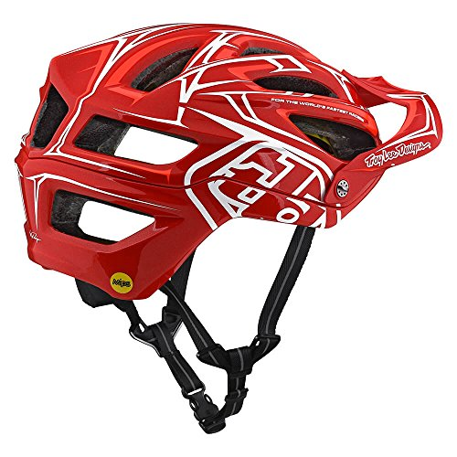 Troy Lee Designs A2 Pinstripe 2 Mountain Bike Adult Helmet 2018 with MIPS Protection and X-Static Liner meets/exceeds CPSC CE-EN AS/NZS X-Large/2X-Large Red by Troy Lee Designs (Image #2)