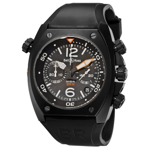 Bell-Ross-Mens-BR-02-94-CARBON-Marine-Black-Chronograph-Dial-Watch-Watch