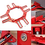 LING'S SHOP 90 Degree Right Angle Corner Clamp Picture Frame Holder Woodworking Hand Kit 1Pc