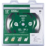 "Hitachi 115436 12"" 80T Fine Finish VPR Miter Saw Blade"