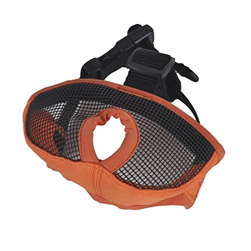 PanDaDa Pet Muzzle for Anti Biting Barking Breathable Mesh Muzzles with Adjustable Velcro for Cat Dog