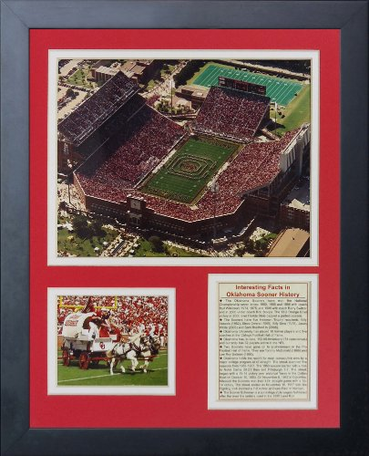 - Legends Never Die Oklahoma Sooners Memorial Stadium Framed Photo Collage, 11 by 14-Inch