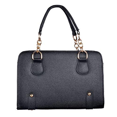 Main Sac à Messenger Grand tout Bag Epaule fourre Hee Femme Noir IAxqafwyB