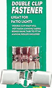 Double Clip Fasteners for Hanging Patio String Lights, Pack of 4