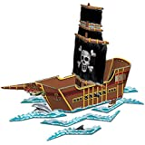 Beistle Pirate Ship Centerpiece, 18-1/2-Inch by 26-Inch