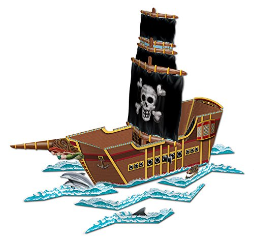 Beistle 54597 Pirate Ship Centerpiece, 18-1/2-Inch by 26-Inch]()