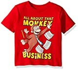 Curious George Toddler Boys' Monkey Business Short Sleeve T-Shirt, Red, 5T