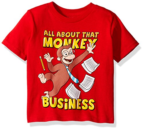 - Curious George Toddler Boys' Monkey Business Short Sleeve T-Shirt, Red, 4T