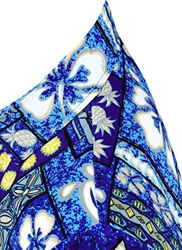 Hommes La Hawaien Bas Casual Le Leela Boutonnée Chemise Vers w226 Bleu XqXBxwr746
