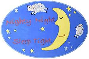 The Kids Room by Stupell Nighty Night, Sleep Tight Sheep Jumping Over the Moon Oval Wall Plaque