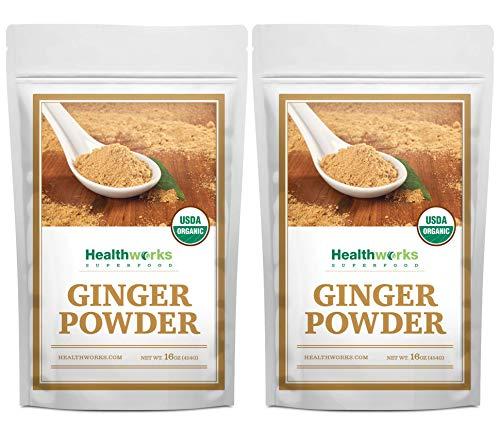 Healthworks Ginger Powder Organic 2 Pound