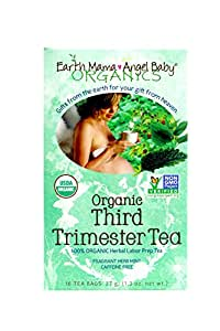 Earth Mama Angel Baby Organic Third Trimester Tea, 16 Teabags/Box  (Pack of 3)
