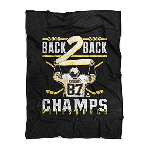 Wht 50 Sheet - Sidney Crosby Pittsburgh Hockey Throw Blanket - 50