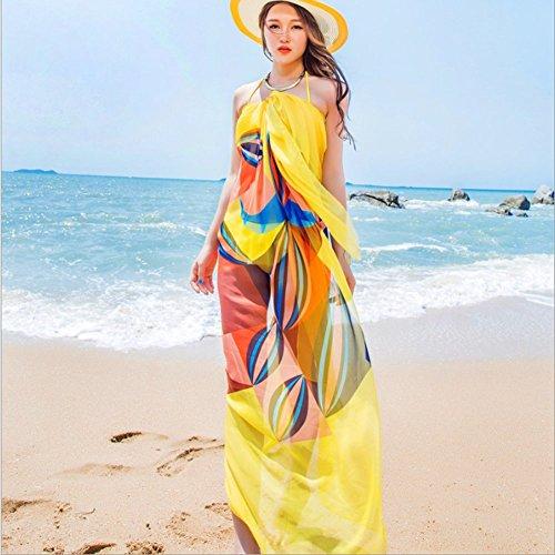 ac212e70ac Topseller Sexy Womens Chiffon Bikini Summer Beach Swimwear Sarong Wrap  Cover Dress Scarf Pareo (Yellow) - Buy Online in Oman. | Kitchen Products  in Oman ...