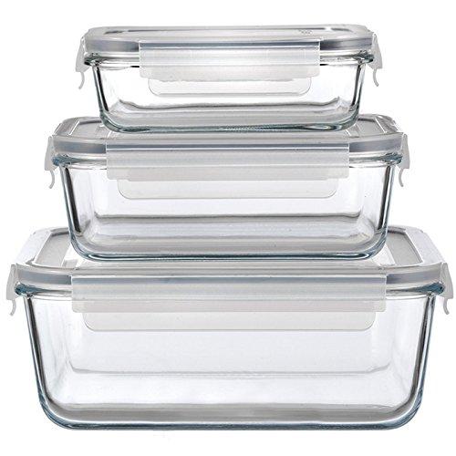 3 platos de cristal para horno con tapa hermética, tapa, color ...