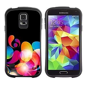 """Pulsar iFace Series Tpu silicona Carcasa Funda Case para Samsung Galaxy S5 , Colores neón papel pintado Random Red"""""""