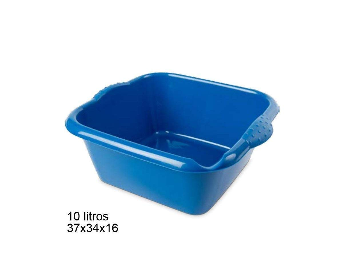HEGA Genova Eco Square Washing-up Bowl 10 Litre, Assorted Eco in-Mould Labeling, One Size