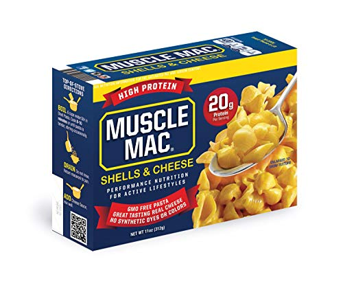 Muscle Mac   Shells & Cheese Pasta For All Ages, 20 Grams Of Protein Per Serving And Real Cheese, 12 PACK