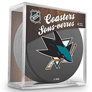 Sher-Wood San Jose Sharks NHL Eishockey Puck Untersetzer (4er Set)