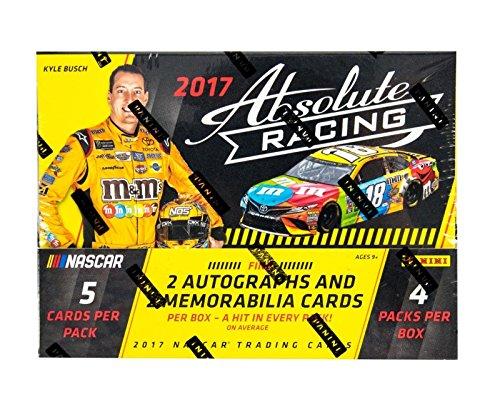 2017 Panini Absolute Racing Hobby Box - 2 Autos & 2 Mems Per Box! - Panini Certified - Autographed NASCAR Cards from Sports Memorabilia