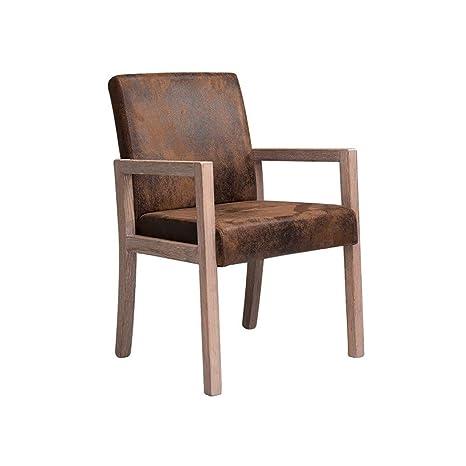 AJZXHE Sillón de salón Moderno Minimalista, sillón de Madera ...