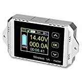 VANJING DC 0-100V 200A DC Multifunctional Wireless Bi-directional Voltage Current Power Meter Ammeter Capacity Time Meter with Color LCD Display (DC 0-100V 200A)