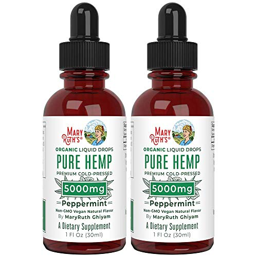 2-Pack-Organic-Pure-Hemp-Oil-Extract-5000mg-by-Nutritional-Consultant-Top-Chef-MaryRuth-for-Pain-Stress-Relief-Powerful-for-Ingestible-Topical-Use-Non-GMO-Peppermint-1-oz