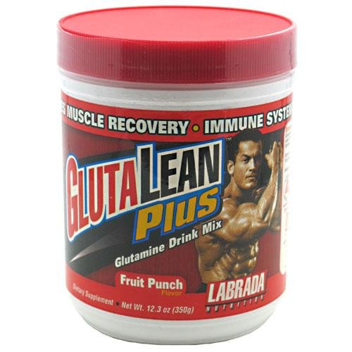 Labrada Nutrition Glutalean Plus, punch aux fruits, 350-Gram