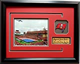 NFL Tampa Bay Buccaneers Raymond James Stadium Picture Frame with Team Patch and Nameplate, Medium, Black